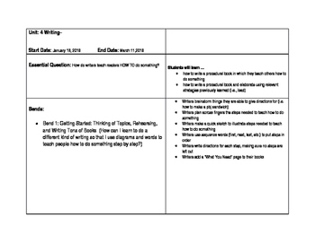 Common Core aligned Curriculum Map for Unit 2 Procedural W