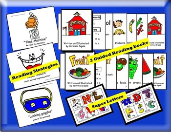 Guided Reading, Guided Reading Strategies, Guided Reading Books 1 & 2 Bundle