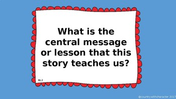 Common Core/Florida State Standards aligned Reading Center Questions