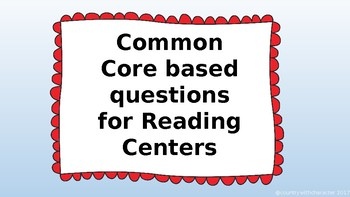 Common Core/Florida State Standards aligned Reading Center