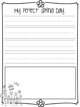 Common Core aligned!  Save the ink! Spring Literacy & Writing Activities!