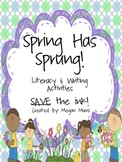 Common Core aligned!  Save the ink! Spring Literacy & Writ