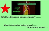 Common Core aligned Simile & Metaphor SmartBoard lesson
