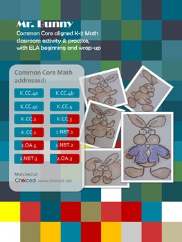 Common Core aligned counting activities - Counting for Mr. Bunny