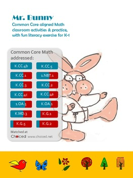 Common Core aligned math activities – Morning exercise with Mr. Bunny