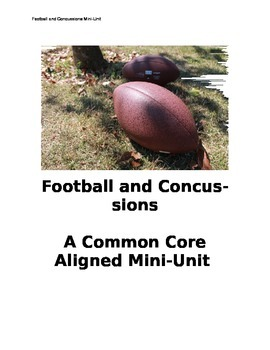 Common Core and ACT practice mini-unit: Football and Concussions