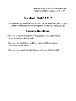 Common Core and Essential Questions for a Binder SECOND GRADE
