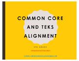 Common Core and TEKS Alignment Document 5th ELAR