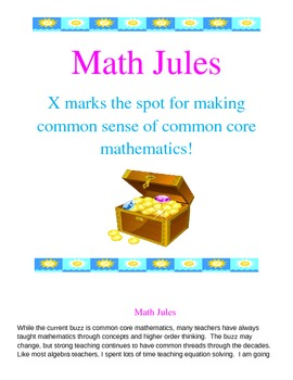 Common Core approach to solving basic equations