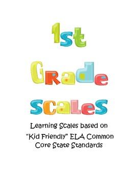 Common Core based ELA Learning Scales Bundle