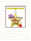 Common Core for 7th Grade ELA: RI.7 Standards and Reading Response Pack