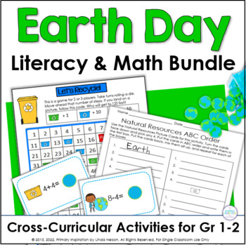 Earth Day Cross-Curricular Literacy and Math Bundle