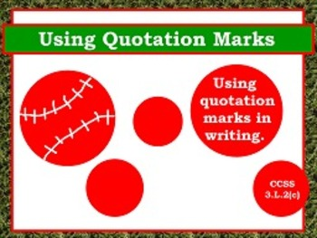 Commas & Quotes in Dialogue L.2c FLIPCHARTS and worksheets!
