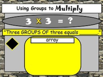 Multiplication: The x Symbol Means Groups Of OA.1 FLIPCHARTS and worksheets!