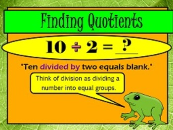 Interpret Whole Number Quotients OA.2 FLIPCHARTS and worksheets!