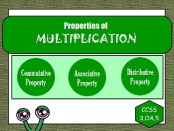 Properties of Multiplication OA.5 FLIPCHARTS and worksheets!