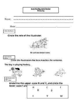 Common Core letter sounds, author illustrator, retelling review