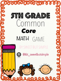 Common Core math game!