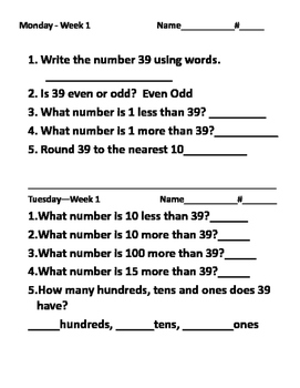 Common Core  math practices and tests