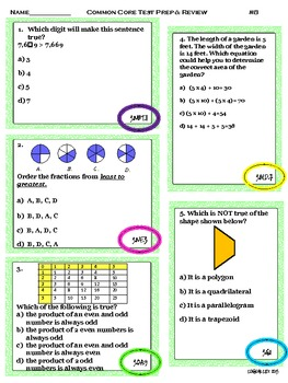 Common Core math test preparation and review