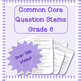 Common Core question stems for grade 6