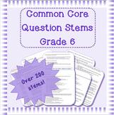 Common Core question stems for grade 6