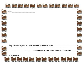 Common Core supported Opinion Writing for Polar Express