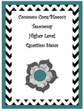 Common Core/Bloom's Taxonomy Question Stem Posters