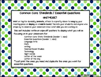 Common Core/Essential Questions and More Posters