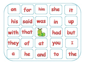 Common Core:K & 1st Grade Sight Word Bingo