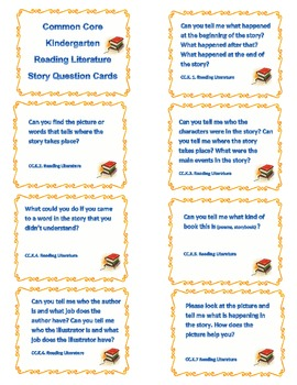 Common Core.K-Reading Literature Cards