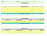 Common Core/Marzano Interactive Lesson Plan Template-Fifth