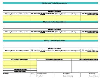 Core/Marzano Interactive Lesson Plan Template-Fourth Grade Reading/LA