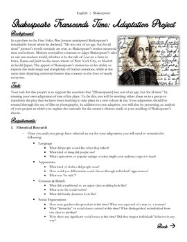 Common Core/PARCC Shakespeare Research Project