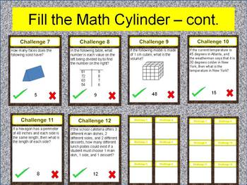 4th Grade Math Review / Problem Solving/ Scavenger Hunt (Common Core and STAAR)