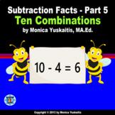 1st Grade Subtraction Facts 5 - Combinations of Ten Powerp