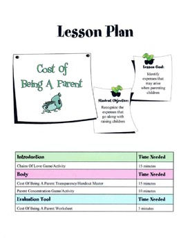 Common Costs Of Being A Parent Lesson