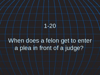 Common Court Room Vocabulary with Flash Cards and Power Point Game