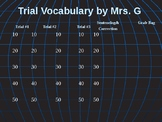 Common Court Room Vocabulary with Flash Cards and Power Po