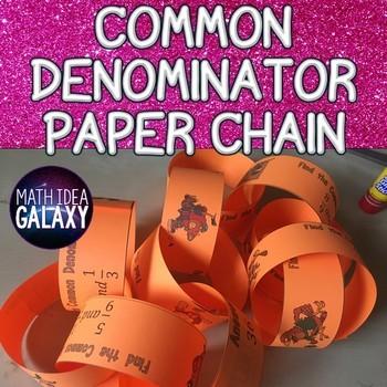 Common Denominator Activity - Paper Chain