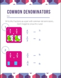 Common Denominator Worksheet