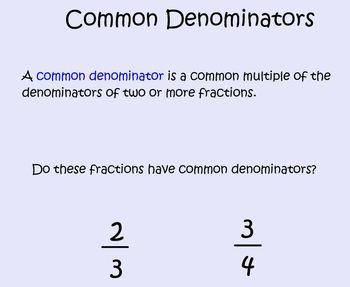Common Denominators