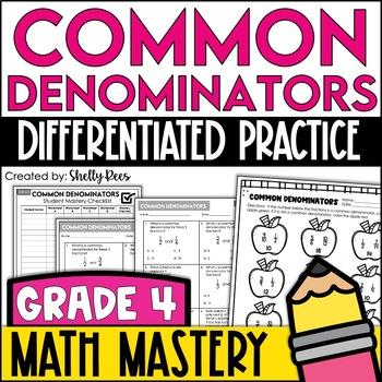 Common Denominators (4th Grade Common Core Math: 4.NF.1)