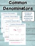 Common Denominators Worksheet