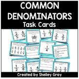 Common Denominators Fraction Task Cards | Fraction Practice
