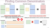 Common Denominators and Greatest Common Factor Interactive Worksheet