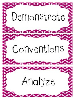 Common ELA Words for a Word Wall