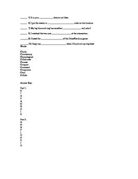 6th Grade EOG Vocabulary Test 3