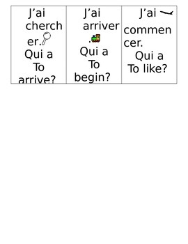 "Common ER verbs ""I have"" game"