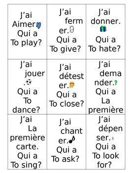"""Common ER verbs """"I have"""" game"""